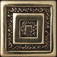 Керамическая плитка  для пола с орнаментом BronzoDecor 1060920
