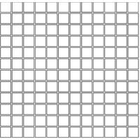 М363 BIANCO Mosaico 2,5X2,5 Su Rete 30Х30 30x30