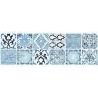 Керамическая плитка  для ванной голубая Ceramika Konskie 50642