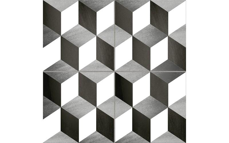 Керамогранит Cube Precorte Gris 45х45 Emotion Ceramics 125523
