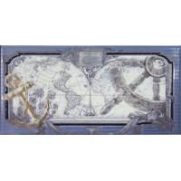 Керамическая плитка для кухни голубая СД131 Maritima Ceramics