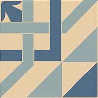 ENC 23 Ivory (D.Blue, L.Blue) 10x10