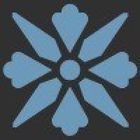 TES1682 Fleur 11 (Black, Blue) 5x5