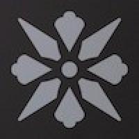 TES1683 Fleur 14 (Black, Pale Blue) 5x5