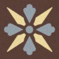 TES1684 Fleur 08 (Brown, Blue, Ivory) 5x5