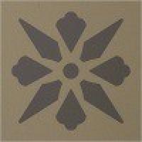 TES1687 Fleur 12 (Linen, Charcoal) 5x5