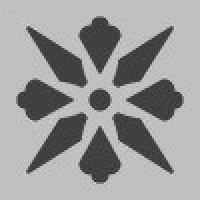 TES1688 Fleur 02 (Pale Grey, Black)5x5 5x5