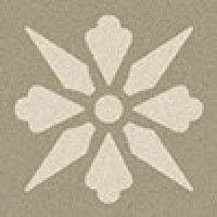 TES1689 Fleur 09 (Pale Grey, White) 5x5