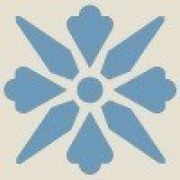 TES1694 Fleur 10 (White, Blue) 5x5