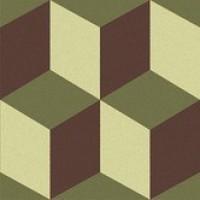 TES6682 Trompe l'oeil 3 (Green Aus., Brown, Pistache) 15x15