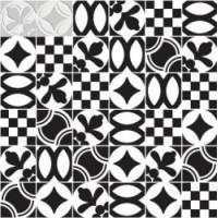 7VFBGMG Deco Dantan Comp.Mosaico 36pz Blanc-Gris 30x30