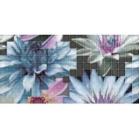 TES94904 Decor mosaico blanco flor-1 25x50