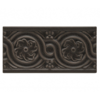 ADNT5059 Бордюры ADEX NATURE Relieve Flores Charcoal  7.5x15