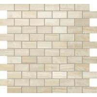 600110000203 Supernova Onyx Ivory Chiffon Brick Mosaic 30,5x30,5