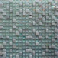 Мозаика для фартука белая DGS018 Keramograd