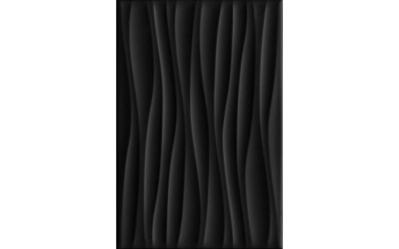 Керамическая плитка 8276  Карнавал в Венеции чёрный волна 20х30 20x30 Kerama Marazzi (Россия)