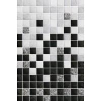 Керамическая плитка  для ванной черно-белая Шахтинская плитка 010101004483