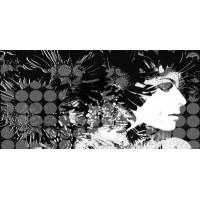 Керамическая плитка  для ванной черно-белая Уралкерамика ПН9ДВ1/PWU09DIV1