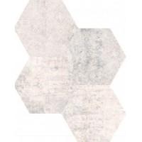 Concrete White Decor Hex mix 25x22