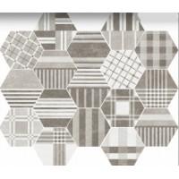 22101  HEXATILE CEMENT GEO GREY 17,5x20 17.5x20