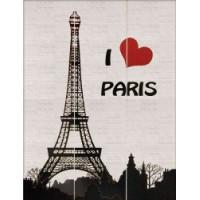 TES104934 I LOVE PARIS 88,5x119 88.5x119