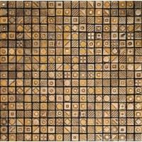 TES77580 HERON Ttravertimo Chiaro/Gold 30.5x30.5