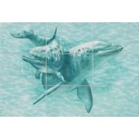 Керамическая плитка для ванной морская волна ПН76Д Уралкерамика