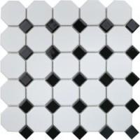 Мозаика  черно-белая IDLA2575 StarMosaic