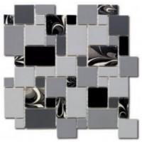 EMOI3030SEV01 Seventies Pattern Noir 30.5x30.5