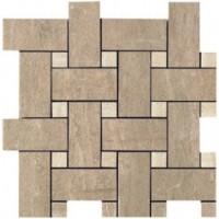 TES4110 Mosaico Intreccio Noce Lapp Rett 30x30