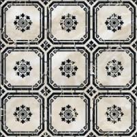 Керамогранит  черно-белый Infinity Ceramic Tiles TES12086