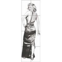 Керамическая плитка  для ванной черно-белая Кировская керамика 370007