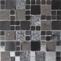 ALU3030C15 Alu Cube Verre Noir 30x30