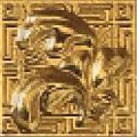118140  Palace Gold GIROSPECCHIO FOGLIA GOLD 7x7