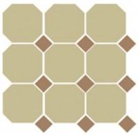 4403  OCT04-1Ch Yellow OCTAGON 03/Caramel Dots 04 (лист 9 штук+вставки) 30x30