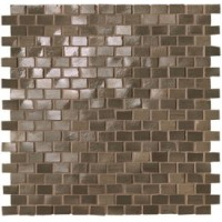 fNWP Brickell Brown Brick Mosaico Gloss 30x30