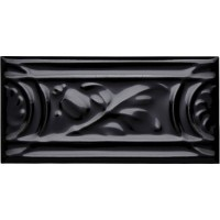 MRL16 Rolling leaf border tile Black 15x7.5