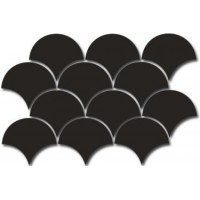 21964 FAN MOSAIC BLACK 30X43