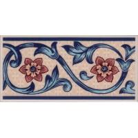 ALIC3B Alice Blue border tile 15x7.5