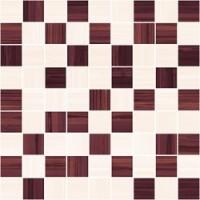 Stripes бордо+бежевый 30x30