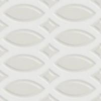 7VF080T Deco Dantan Tressage Blanc 10x10