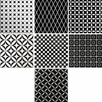 929294 Настенная плитка DECOR BLACK&WHITE MIX 9 MM Cas Ceramica 20x20