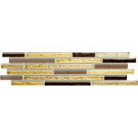 LS-01-164-0372-0098-1-005  Venatello brown mosaic 37,2x9,8 37.2x9.8