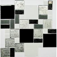 Мозаика  черно-белая Keramissimo 4036