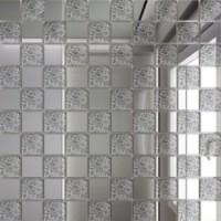 С50Х50  зеркальная Серебро+Хрусталь 25х25/300x300 30x30