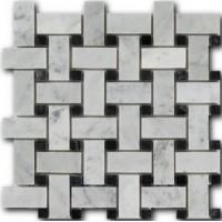 Bianco Carrara + Nero Marquina 1,5*1,5*1 30,5*30,5