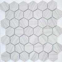 TES78345 Dolomiti bianco MAT hex 18x30x6 18x30x6x0.6 29.5x30.5