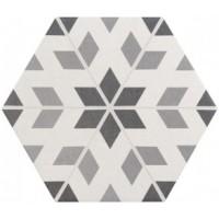 21357  Hexatile Harmony B&W 17,5x20 17.5x20