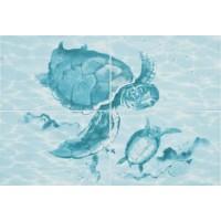 Керамическая плитка для ванной морская волна ПН77Ч/PWU07LAG1 Уралкерамика