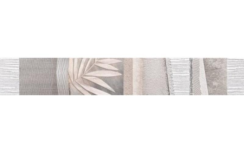 Керамическая плитка Бордюр Темари серый 9х60 9x60 НЕФРИТ-КЕРАМИКА 05-01-1-98-05-06-1117-1